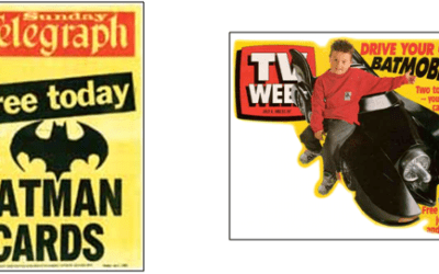 Batman Trading Cards promoted by News Ltd for me!
